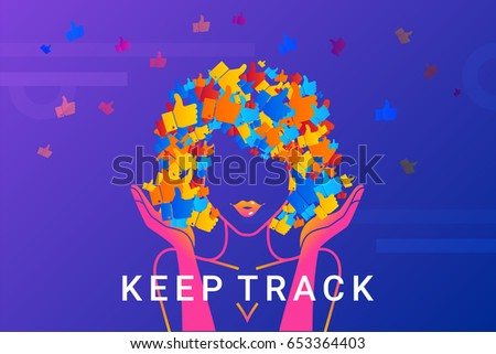 keep track concept illustration