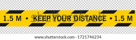 Keep Your Distance Social Distancing Floor Marking Security Stripe Instruction Icon. Vector Image. Keep Safe Distance Social Distancing in Queue 1 Meter Instruction Icon against the Spread of the Nove