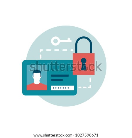 Keep your information and passwords private online, cyber security icon