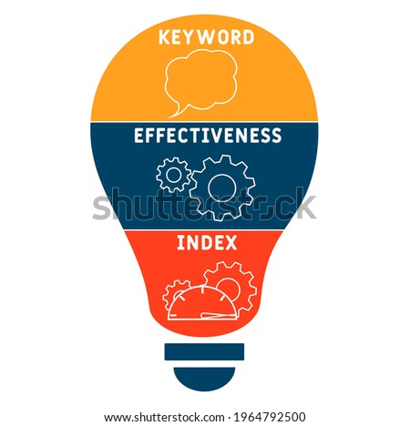 KEI - Keyword Effectiveness Index acronym. business concept background.  vector illustration concept with keywords and icons. lettering illustration with icons for web banner, flyer, landing pag Stockfoto ©