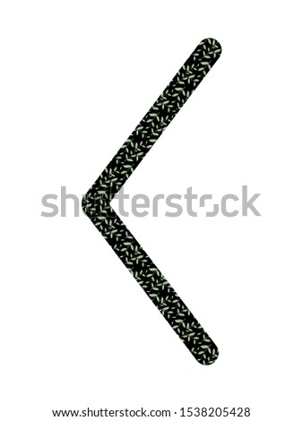 Kenaz. Ancient Scandinavian runes Futhark. Used in magical scripts, amulets, fortune telling. Scandinavian and Germanic writing. White background