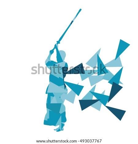 kendo fighter vector background