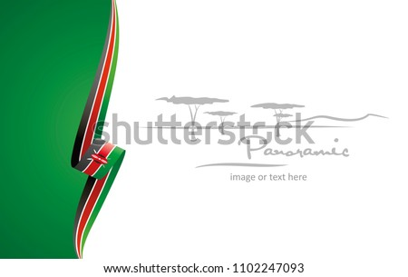Kenya abstract flag brochure cover poster background vector