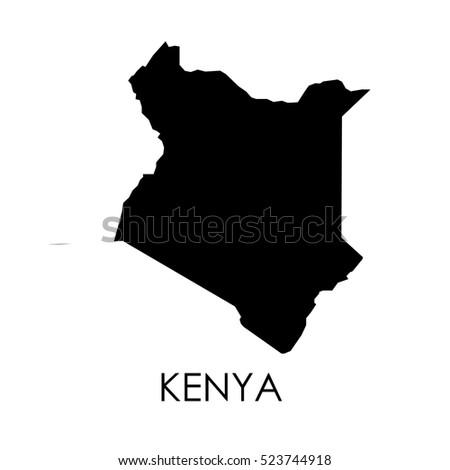 Kenya map in white background
