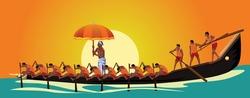 Kerala boat race competition. vector illustration design