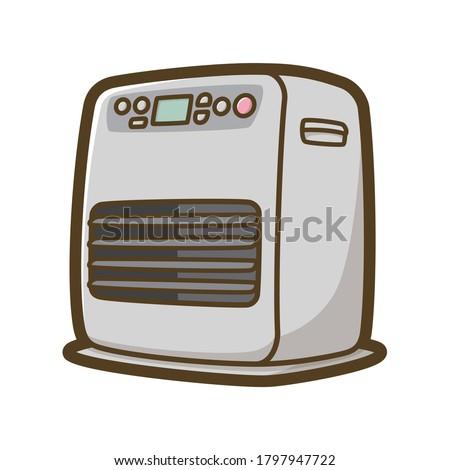 Kerosene fan heater vector illustration. Home appliances. Foto d'archivio ©