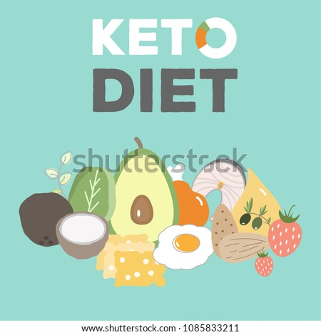 Ketogenic diet food, low carb high healthy fats