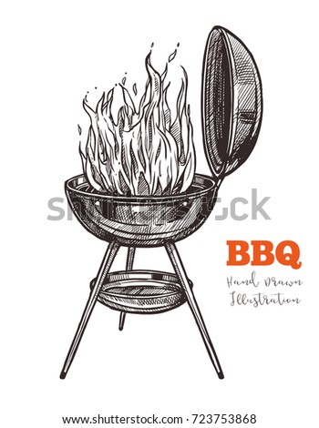 kettle barbecue grill with...