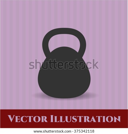 Kettlebell icon or symbol