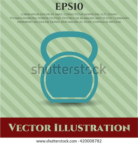 kettlebell icon vector symbol flat eps jpg app web concept