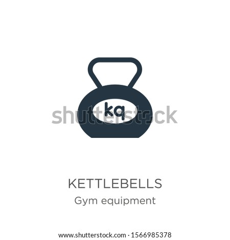 Kettlebells icon vector. Trendy flat kettlebells icon from gym equipment collection isolated on white background. Vector illustration can be used for web and mobile graphic design, logo, eps10