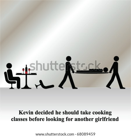 Kevin decided it was time to take cooking classes