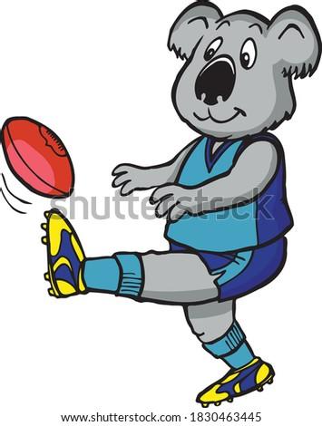 kevin the koala kicks his footy