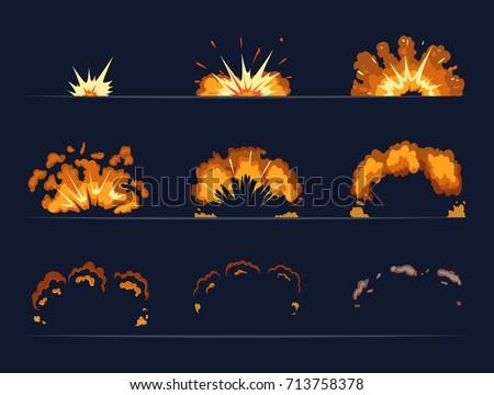 key frames of bomb explosion