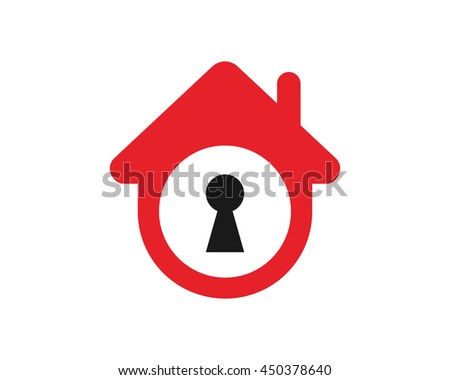 key hole house housing home residence residential real estate image vector icon