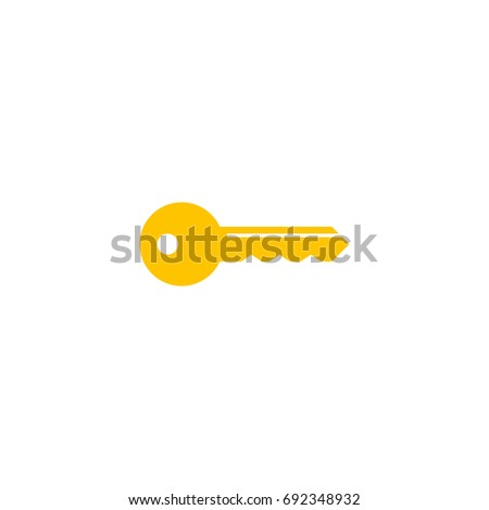 Key Icon Vector Isolated