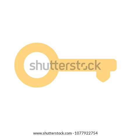 Key icon - vector key symbol. protection and security sign - vector lock symbol