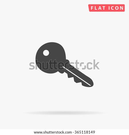 Key Icon Vector. Simple flat symbol. Illustration pictogram