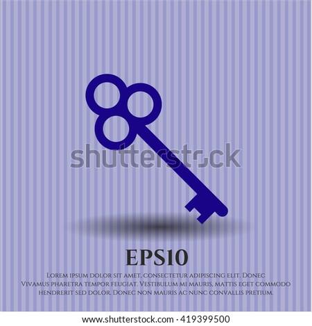 key icon vector symbol flat eps jpg app web concept website