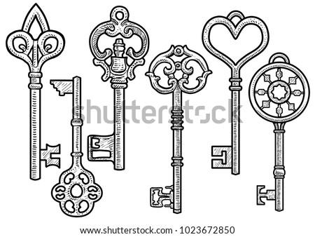 key illustration  drawing