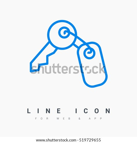 key isolated minimal icon for