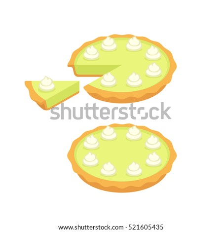 key lime pie  whole and slice