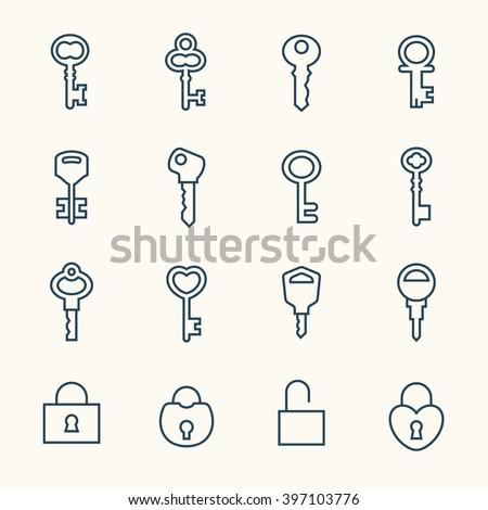 Key line icons
