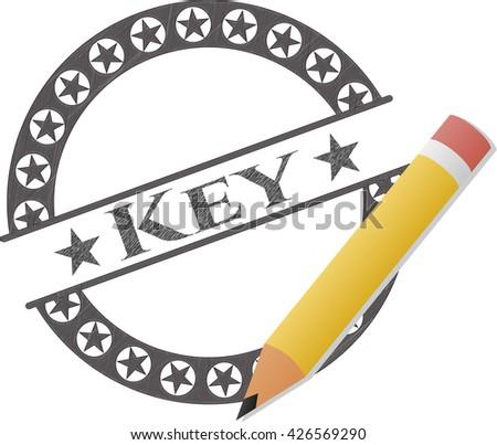 Key pencil effect
