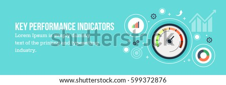 Key performance Indicator flat vector banner with icons