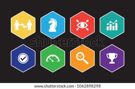Key Performance Indicator Infographic Icon Set
