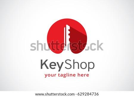 Key Shop Logo Template Design Vector, Emblem, Design Concept, Creative Symbol, Icon