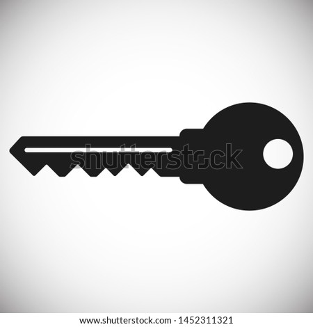 Key vector icon. Open house key icon. Key from the lock icon. Key icon - information protection symbol