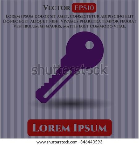 Key vector icon or symbol