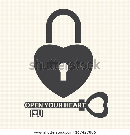 key with a heart inside and