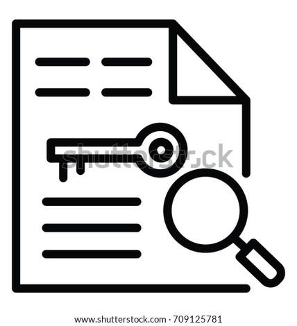 Key wording Vector Icon