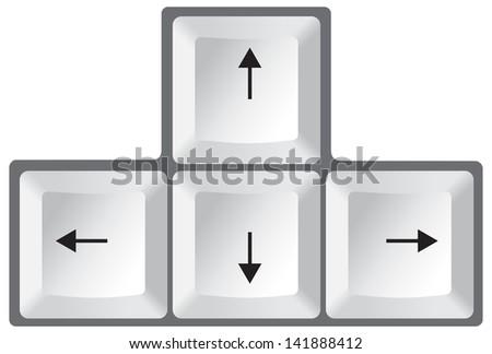 Free Arrow Keys Vectors