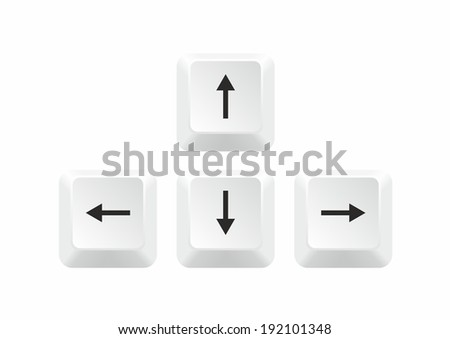 Keyboard Arrows isolated on white background. Vector illustration