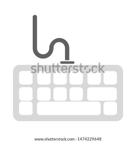 keyboard icon. flat illustration of keyboard vector icon. keyboard sign symbol