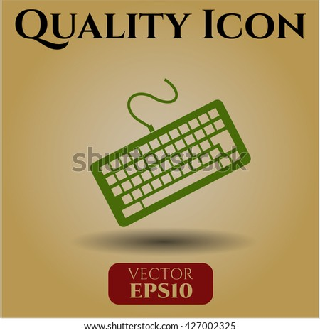 keyboard icon vector symbol flat eps jpg app web concept website