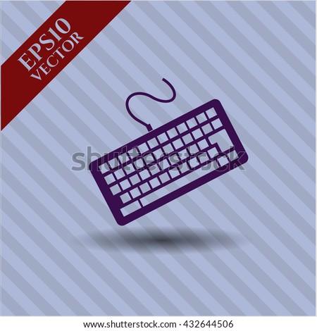 keyboard icon vector symbol flat eps jpg app web concept website
