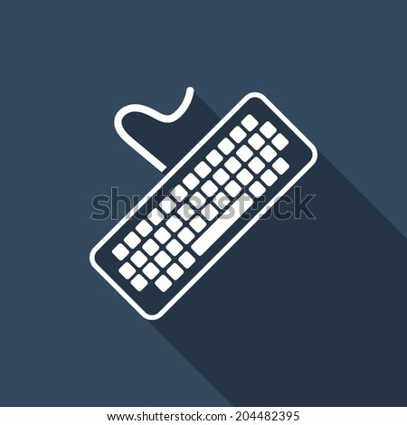 keyboard icon with long shadow