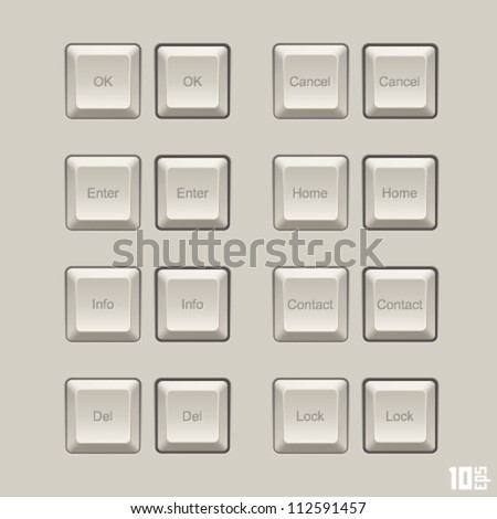 keyboard keys vector set