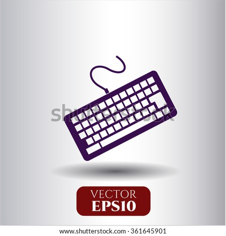 Keyboard vector icon or symbol