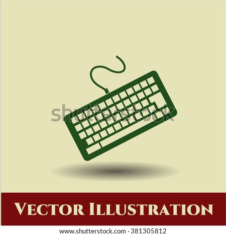 Keyboard vector symbol