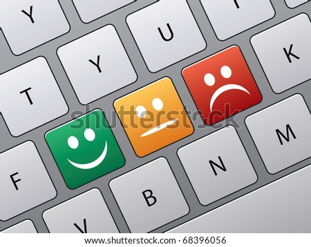 keyboard with icons to vote in
