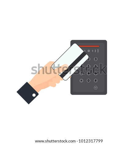 Keyless entry system. Access control clipart isolated on white background