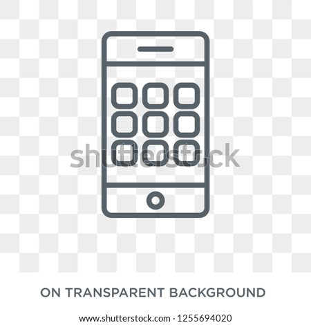 Keypad Phone icon. Trendy flat vector Keypad Phone icon on transparent background from hardware collection. High quality filled Keypad Phone symbol use for web and mobile