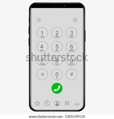 keypad with numbers and letters
