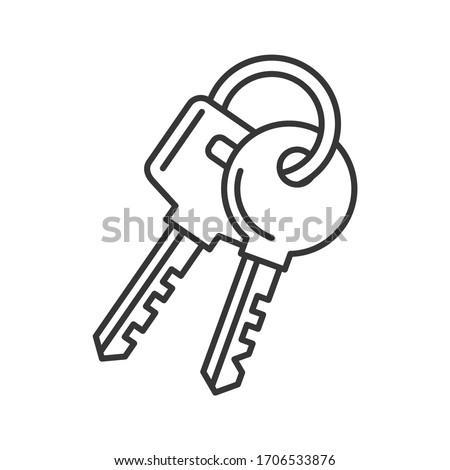 Keys Icon on White Background. Line Style Vector Photo stock ©