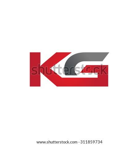KG company group linked letter logo Stock fotó ©
